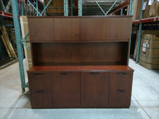 Dark Cherry Wood Credenza : Universal furniture dining room sideboard credenza marble top
